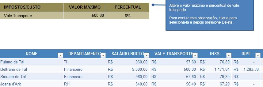 Modelo de Folha de Pagamento Online [Excel]